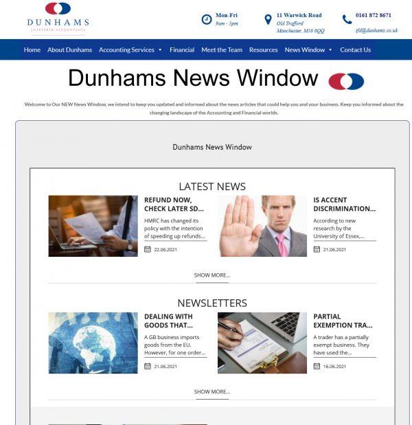 News Window from Dunhams Accountants & Financial Services