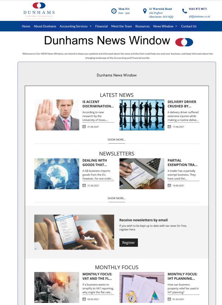 Dunhams News Window from Dunhams Accountants and Financial Services
