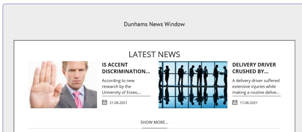 News Window from Dunhams Accountants and Financial Services