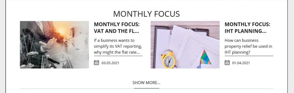 Monthly new Focus from Dunhams Accountants and Financial Services